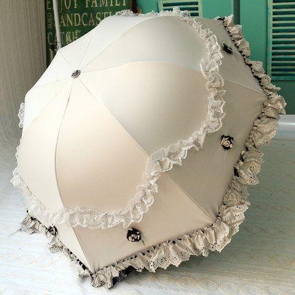 2016 nuovi 6 colori marca Principessa creativo ombrello pieghevole sole ombrello del parasole del merletto ombrelli pioggia donne arco UV guarda chuva