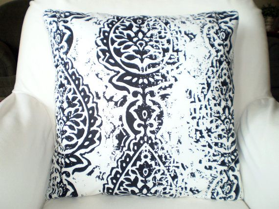 Black White Throw Pillow Covers, Cushions, Couch Pillows, Decorative Pillow, Damask, Manchester Shabby Chic Bed Pillow One or More All Sizes