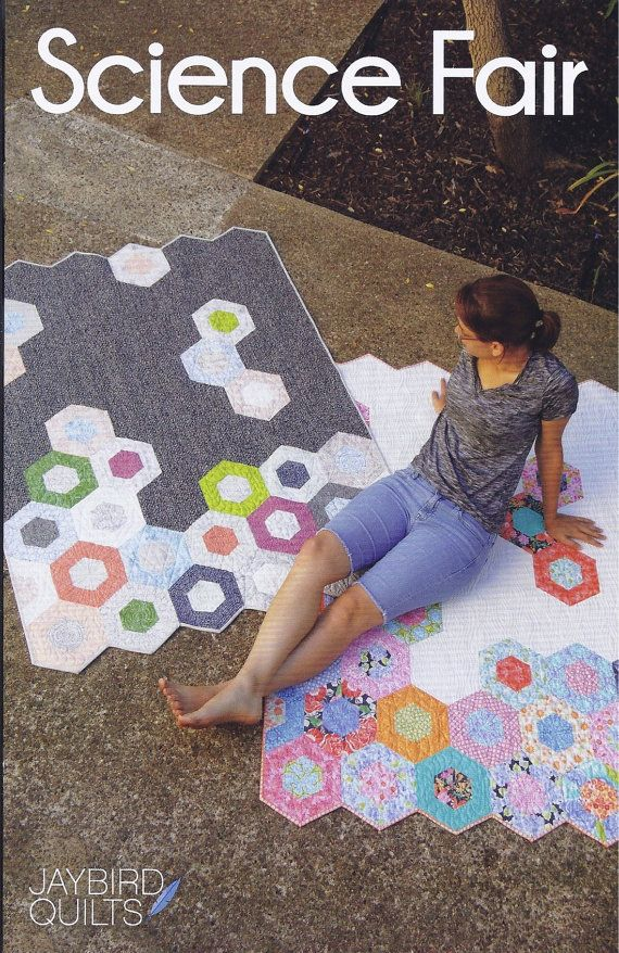 SCIENCE FAIR--modern hexagonal quilt pattern by Julie Herman for Jaybird Quilts