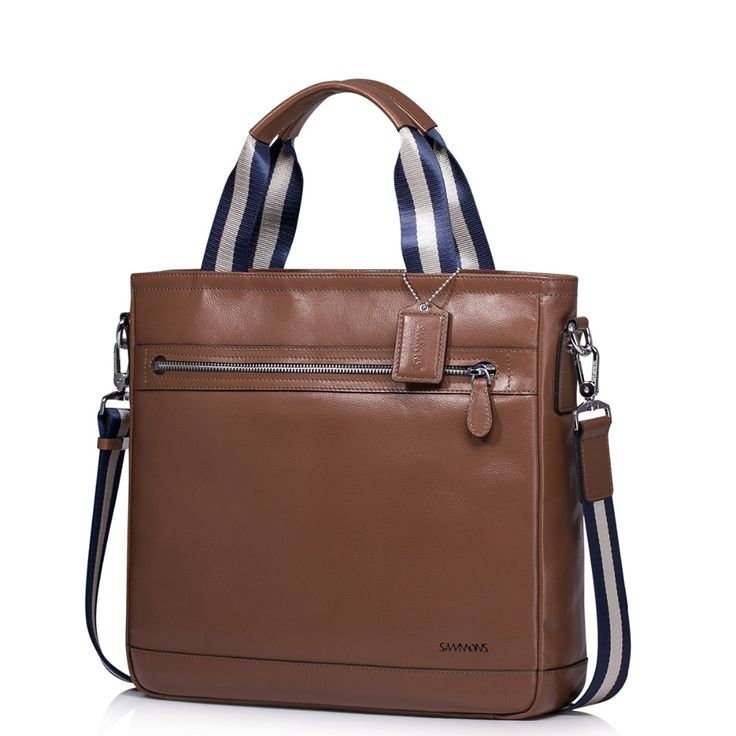 Classic Men Genuine Leather Casual Crossbody Bag Versatile Top Handle Tote Handbag Shoulder Bag Business Work Bag School Satchel