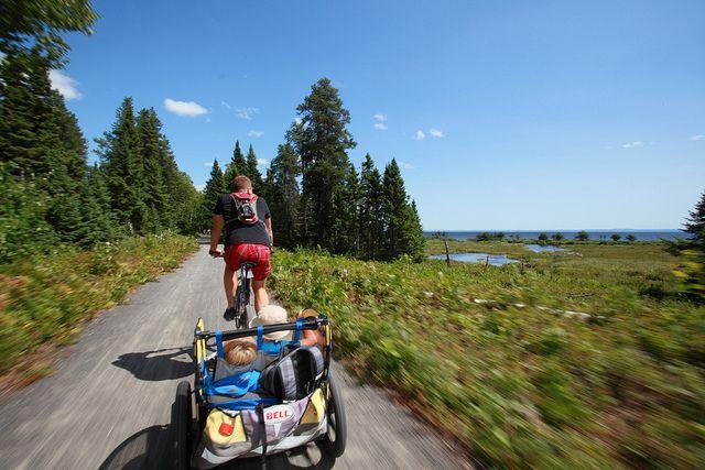 Biking the 'Veloroute des Bleuets' in Quebec. #biking #veloroute #Quebec #travel