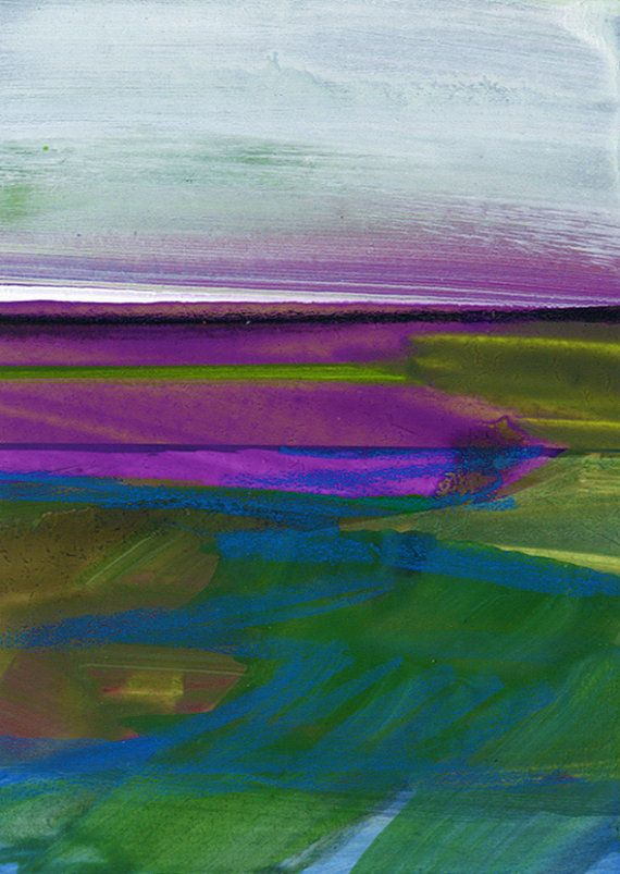Journey... No.025 ... Original abstract landscape  by Kathy Morton Stanion // LOVE THE COLOR COMBO