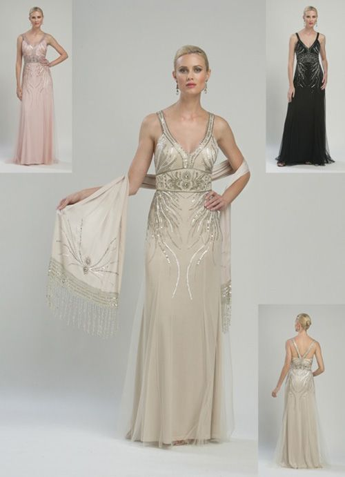 1920s Wedding Dresses Art Deco Wedding Dress Gatsby Wedding Dress