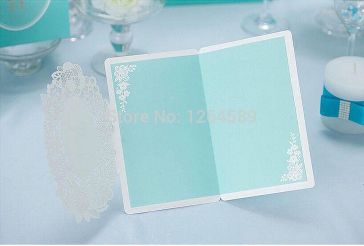 10 unids tarjeta de invitación de boda Tiffany modelo del cordón azul tarjeta favorece la boda / cumpleaños / fiesta de papel cortado con láser decoración envío gratis en Artículos de Fiesta de Casa y Jardín en AliExpress.com | Alibaba Group