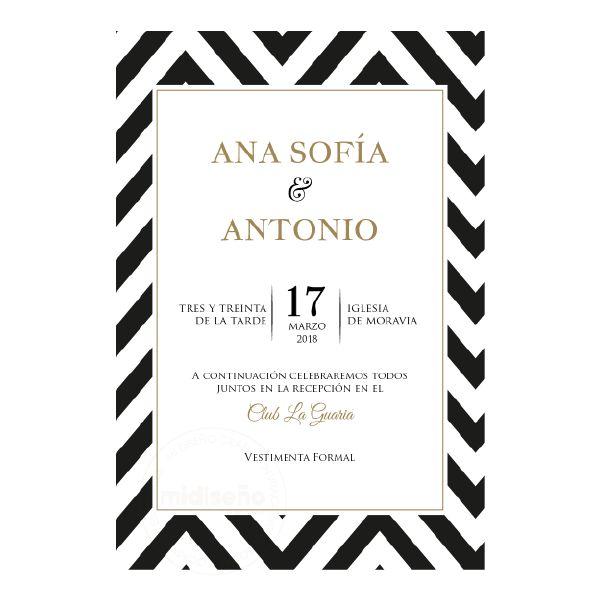Invitaciones Contemporaneas - Invitaciones Mi Diseño Costa Rica www.invitacionescr.com #wedding #invitations #floral #chevron #modern #bright #colors #pattern