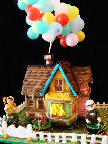 Provide picture of your new house, you and Matt and your dogs and have custom cake with Up theme:-)