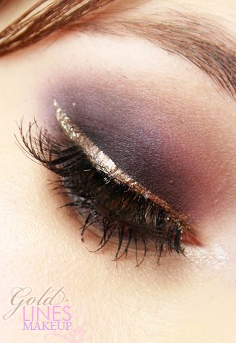 Love the gold liner!