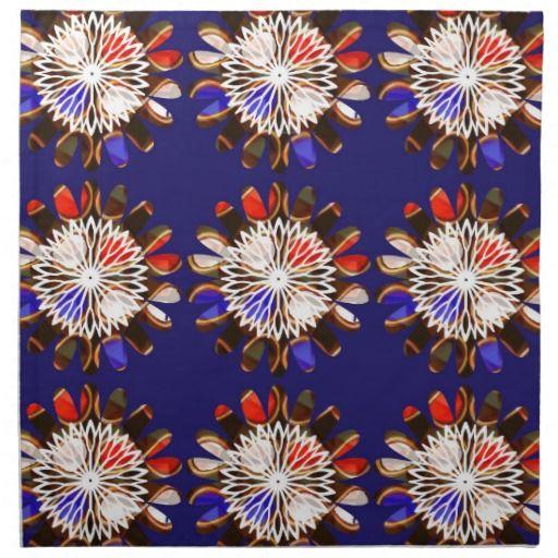 NVN6 Elegant BLUE Sunflower Sun CHAKRA NavinJOSHI Printed Napkins