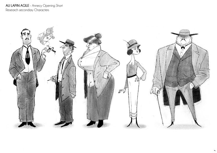 Character Design Vimeo : Characters i did for the annecy opening short here is