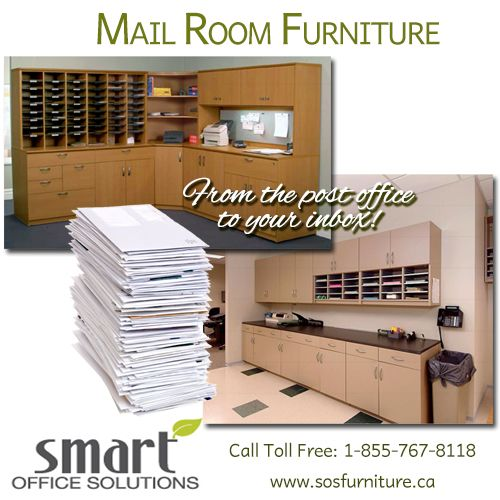 We carry Mail Room Furniture - keep your postal mail organized with individual mail boxes!  For more information on Mail Room Furniture, call us Toll Free: 1-855-767-8118 www.sosfurniture.ca