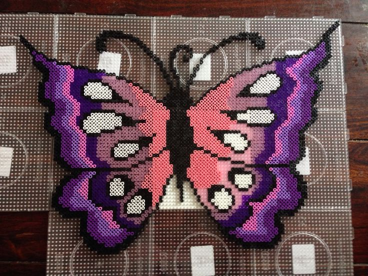 Butterfly hama beads by Dorte Marker
