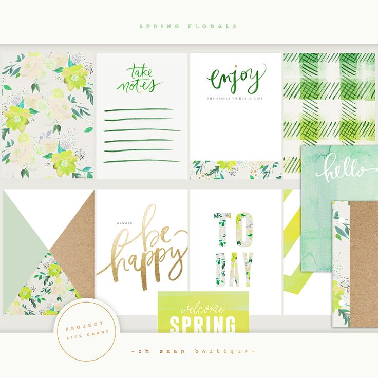 Project Life Spring Florals Personal Use Only