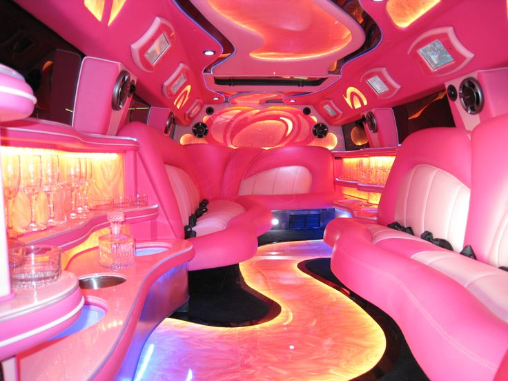 Inside A Pink Escalade The Limo I Want For My Quincea 241 Era