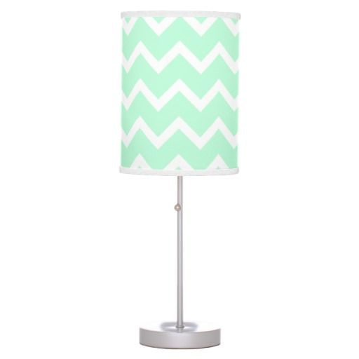 Mint green desk lamp
