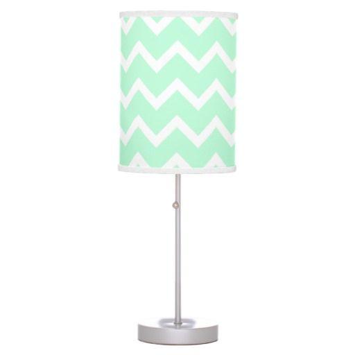 Mint green desk lamp