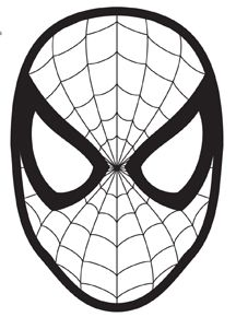 It is a photo of Dashing Spiderman Mask Printable