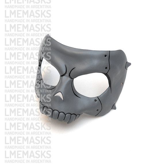 Ryuji Sakamoto Leather Mask Persona 5 Cosplay Grey by LMEmasks