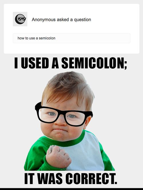 how to use semicolons harvard