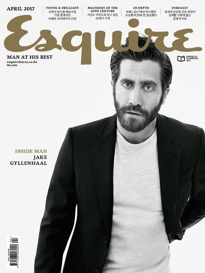 Esquire Korea Magazine April 2017 Hollywood Movie Actor Jake Gyllenhaal Cover