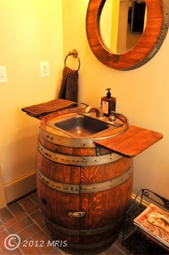 This house is for sale in Amissville, VA. This sink is very cool and all the plumbing could be hidden underneath.