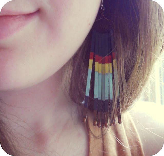 DIY painted bobby pin earrings
