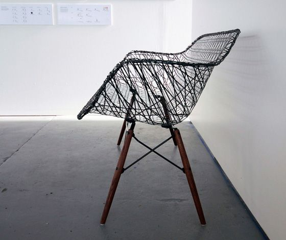 'Carbon Fiber Eames Sofa' by Matthew Strong 'Carbon Fiber Eames Sofa' by Matthew Strong  Matthew Strong's Carbon Fiber Eames Sofa is the result of extensive research at the archives at The Henry Ford Museum, Cranbrook, and MoMA.