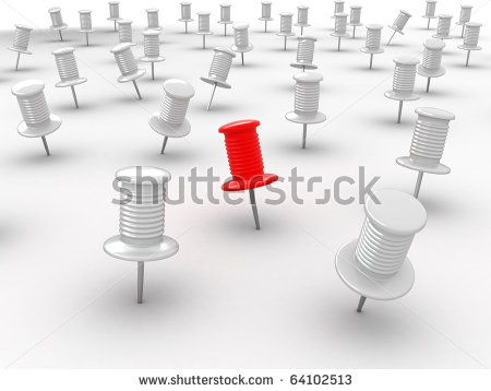 Many thumbsticks on white isolated background. 3d - stock photo