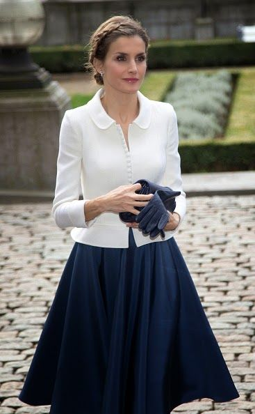 Queen Letizia of Spain during a Spanish State visit at the Belgian Parliament on 12.11.2014 in Brussel, Belgium