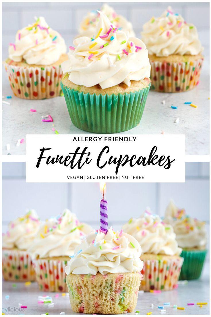 Funfetti Vegan Cupcakes Allergylicious In 2020 Gluten Free Cake Mixes Gluten Free Cupcake Recipe Gluten Free Cupcakes Vanilla