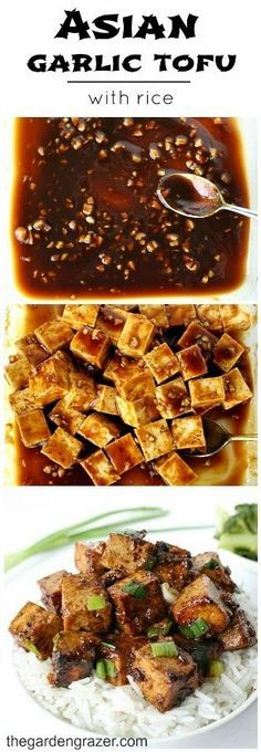 Tofu is marinated in a savory Asian garlic sauce that BOOMS with flavor! Great with a side of steamed veggies (vegan, gluten-free)