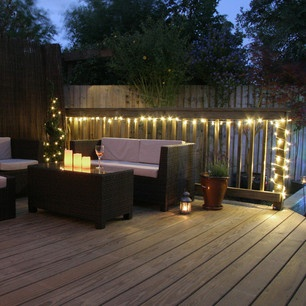 300 LED 24m Indoor Outdoor Fairy Lights, Warm White Clear Cable £29.95 |  Huge