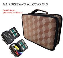 New Professional Barber PU Leather Hair Scissors Bag Salon Hairdressing Tool Comb Storage Pouch Cosmetic Case Hair Clipper Bag
