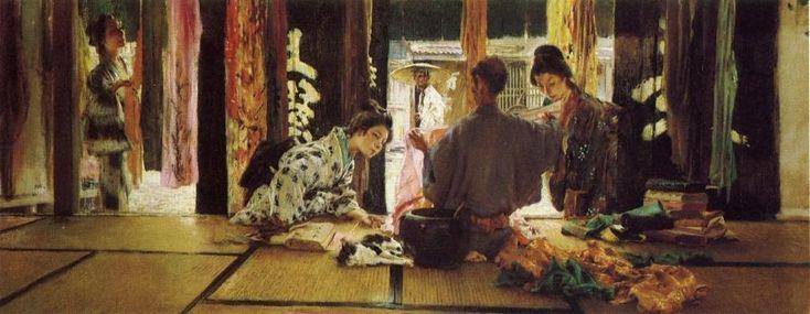 The Athenaeum - BLUM, Robert Frederick American (1857-1903)_The Silk Merchant - 1890-1893