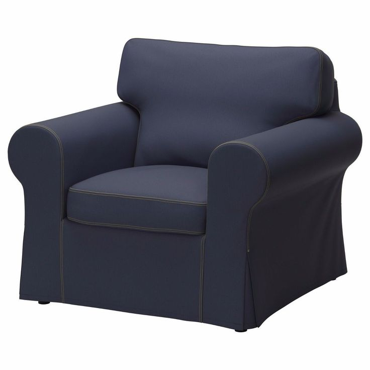 Ikea Ektorp Armchair Cover Jonsboda Blue Chair Slipcover Denim Ikea Media Room Pinterest