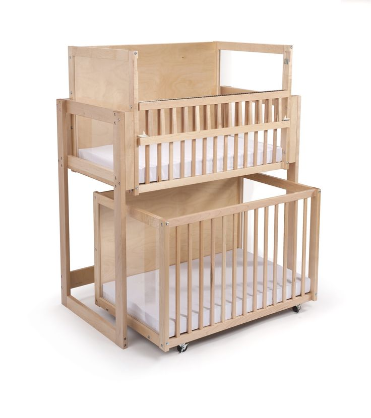 Double decker, bunk-bed, stacked cribs. Must save space right??