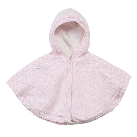 Absorba Baby Poncho Cape Pink - Dandy Lions Boutique #French #babyclothes #poncho
