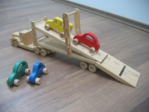 Hailey el transportador de coche un camión de juguete de