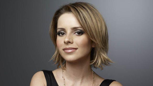 Modelo de corte de cabelo da Sandy