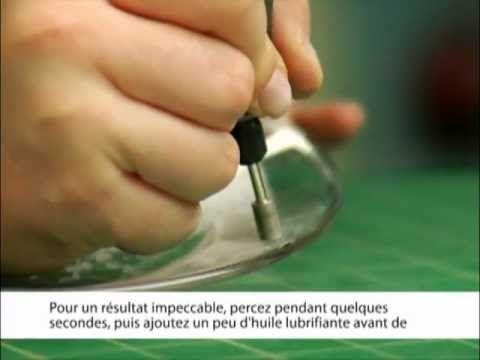 Percer le verre avec les forets pour verre Dremel 662 et 663 - YouTube