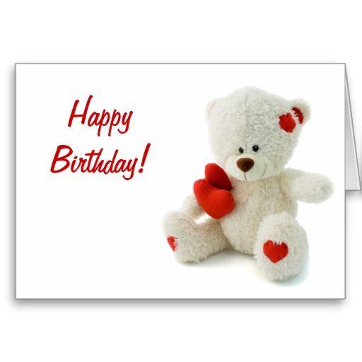 Happy Birthday Teddy Bear Greeting Card