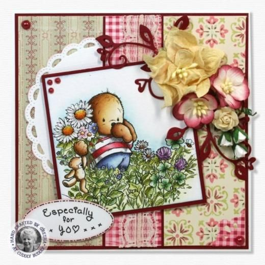 Pachela Studios Digi Stamp - Toby Tumble Walking In Clover < Shop   Cuddly Buddly Crafts