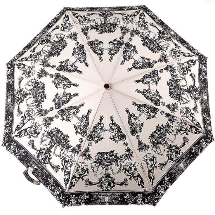 Wpc woah , pool cherubical manual wooden handle three fold umbrella vintage wedding umbrella. $19.82