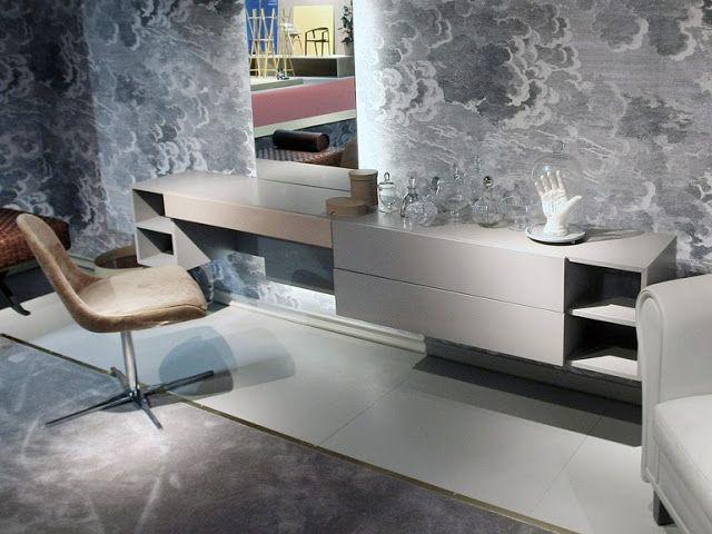 large modern dressing table design for bedroom