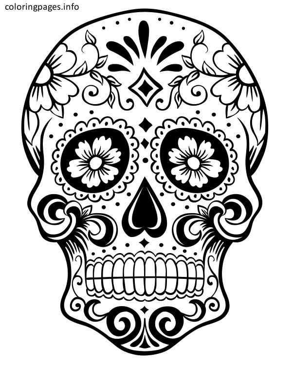 16 best Sugar Skull Coloring Pages images on Pinterest Free