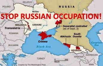 Stop Russian occupation of Ukraine and Georgia