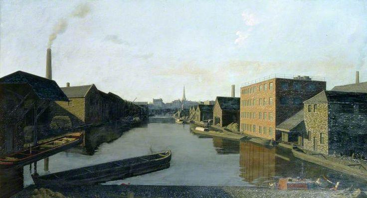 Paddington Basin, London, Algernon Cecil Newton (1880-1968, British)