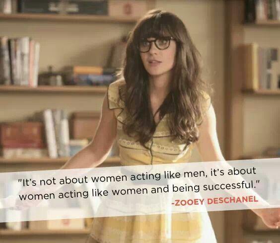 Zooey Deschanel #feMENism #feminism