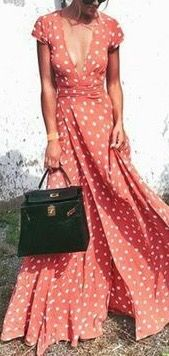 What a perfect wrap maxi dress for summer