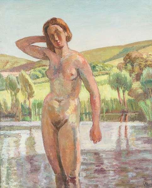 ✽ vanessa bell - 'the bather, charleston' - oil on canvas - bonhams