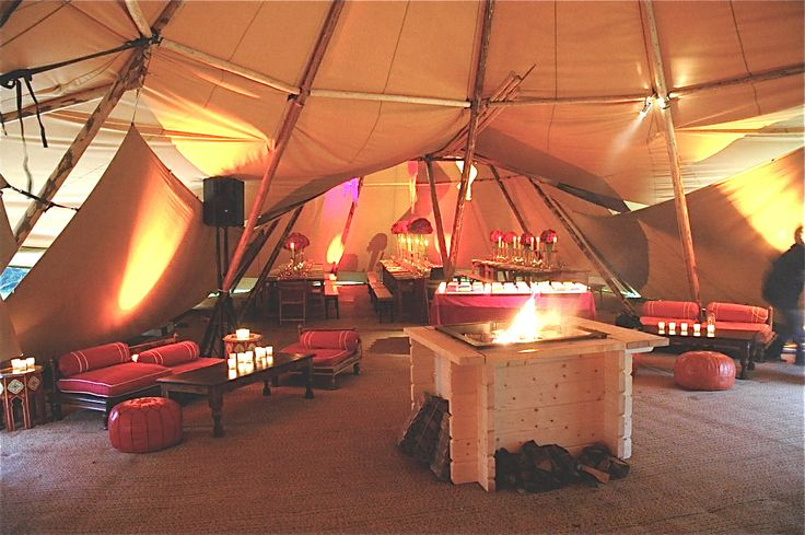 Moroccan styling for winter tipi event